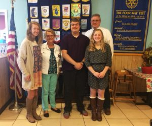 RYLA students with Rotary President and Assistant District Governor