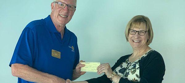 Long Neck Sunrise Rotary Club presentation to Literacy Delaware