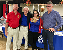 Legion, Rotary and Wounded Warrior Connect leaders