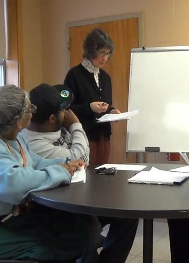 Image showing adult literacy class