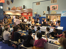 Children enjoying their Thanksgiving meal