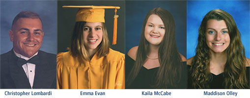 Photography of scholarship recipients