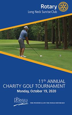 Photo of golf program cover