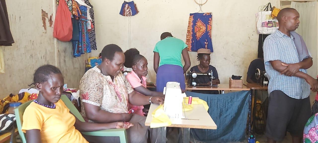 Kenyan Women Sewing