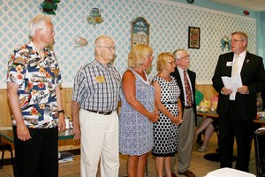 gallery Jack Riddle installs the new officers